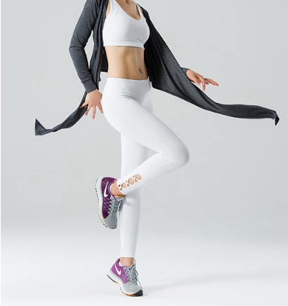 a2976707fd9c53 The side peek-a-boos criss-cross add some funk to your workout aside to  your usual plain leggings.