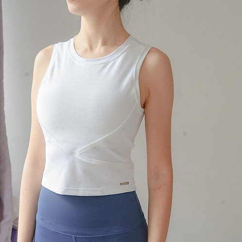 Active Ribbed Bra Top