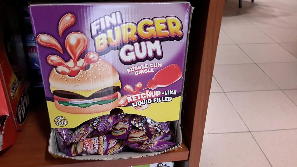 Hamburger chewing gum