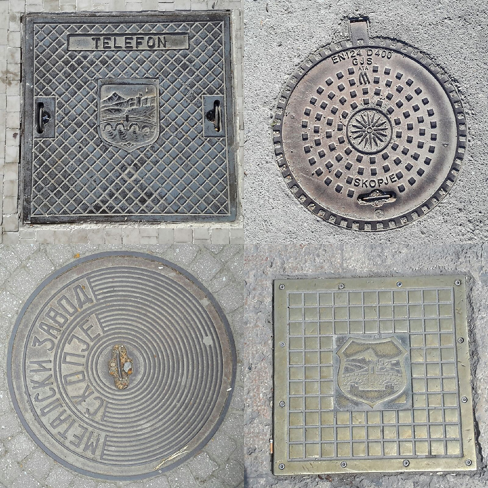 Macedonian manhole covers