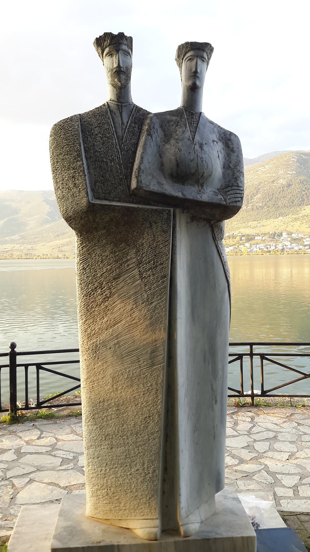 Ioannina lake statue
