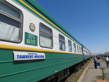 Tashkent to Moscow by train