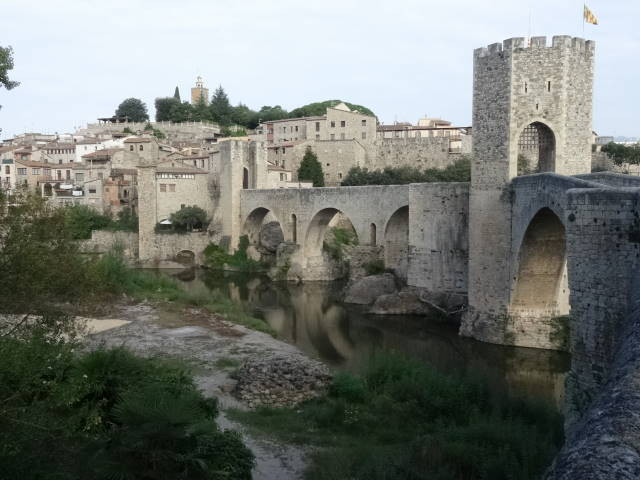 Pretty Besalu village in Garrotxa Catalonia