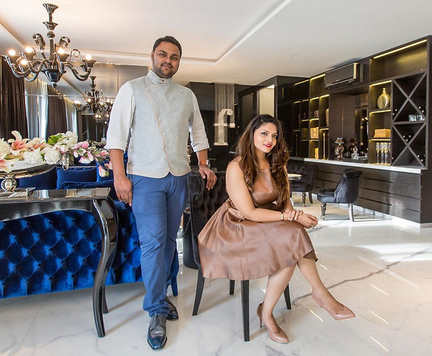 Akash Mehta and Poonam Mehta, one of India's top luxury interior designers.