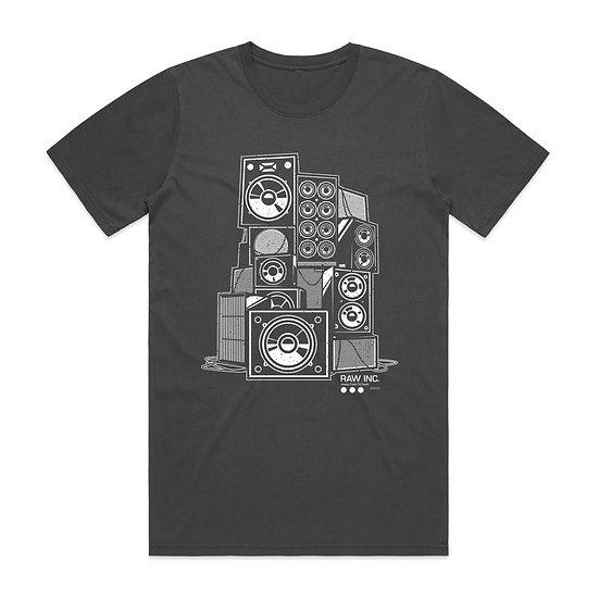 Raw Inc / Fresh Till Death faded black t-shirt