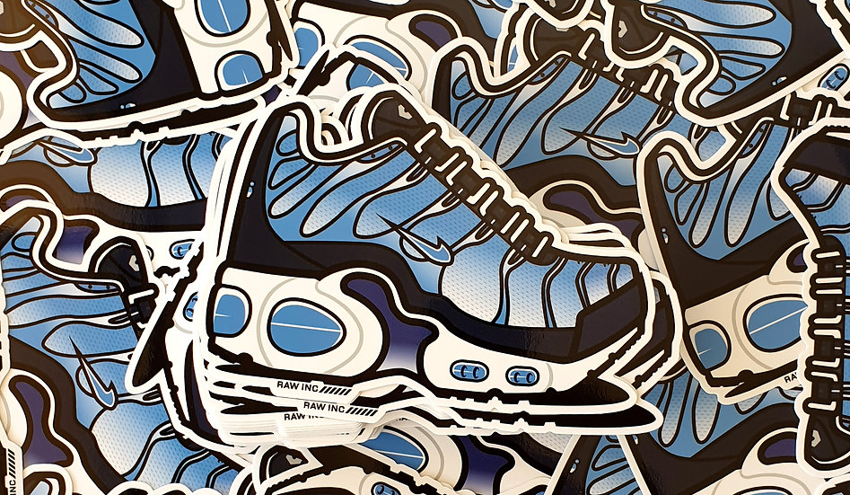Raw / TN University Blue 13cm stickers