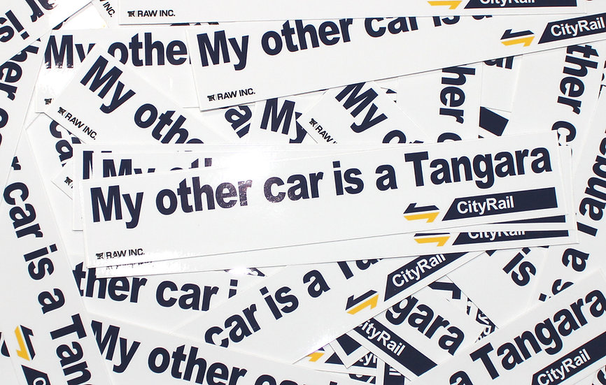Raw Inc / My other car is a Tangara 25cm sticker