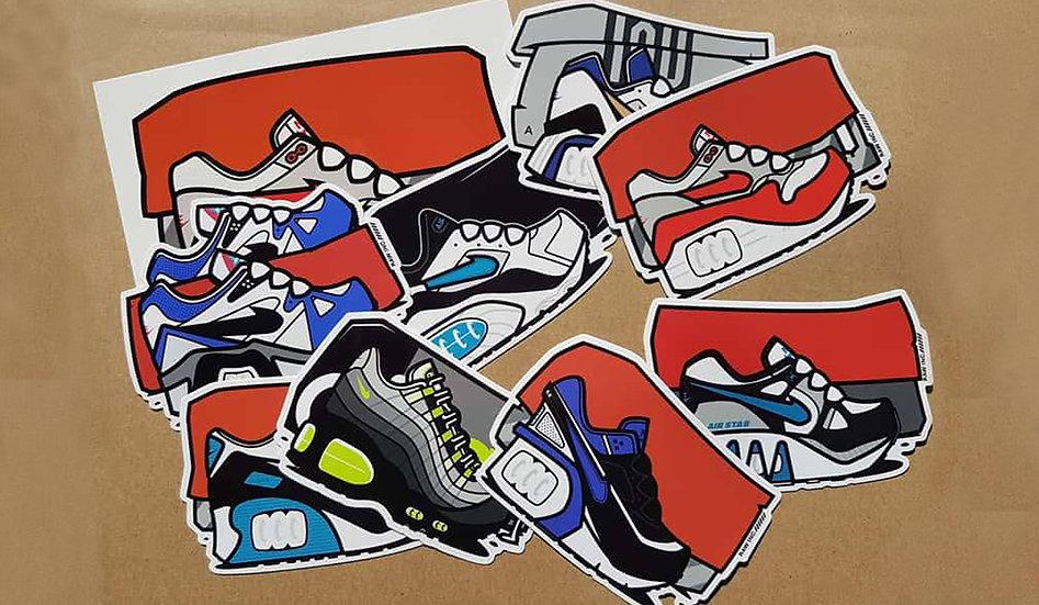 Raw / Kicks Sticker pack