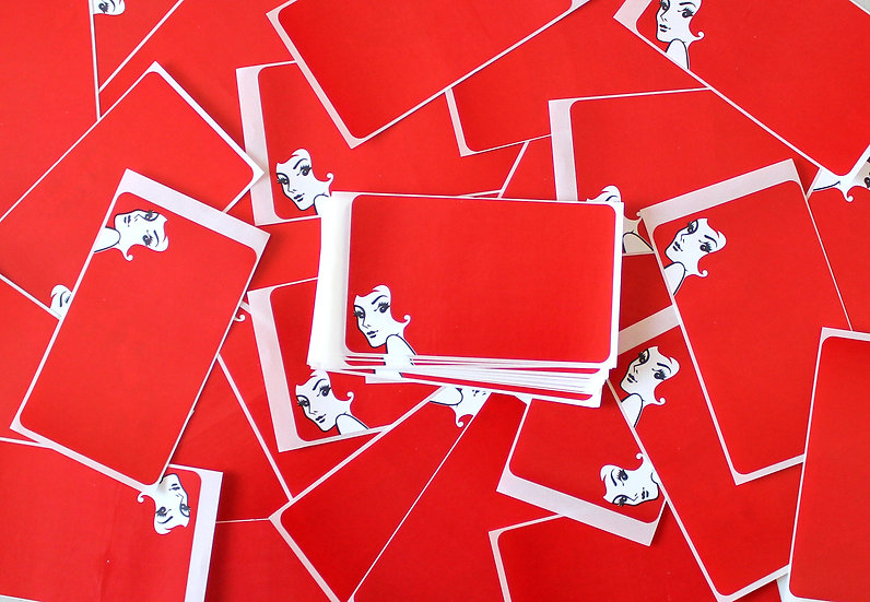 Super Tack / Red Heads Eggshell sticker x50 pack