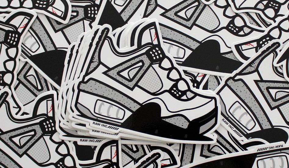 Raw / Jordan 4 Cement 13cm stickers