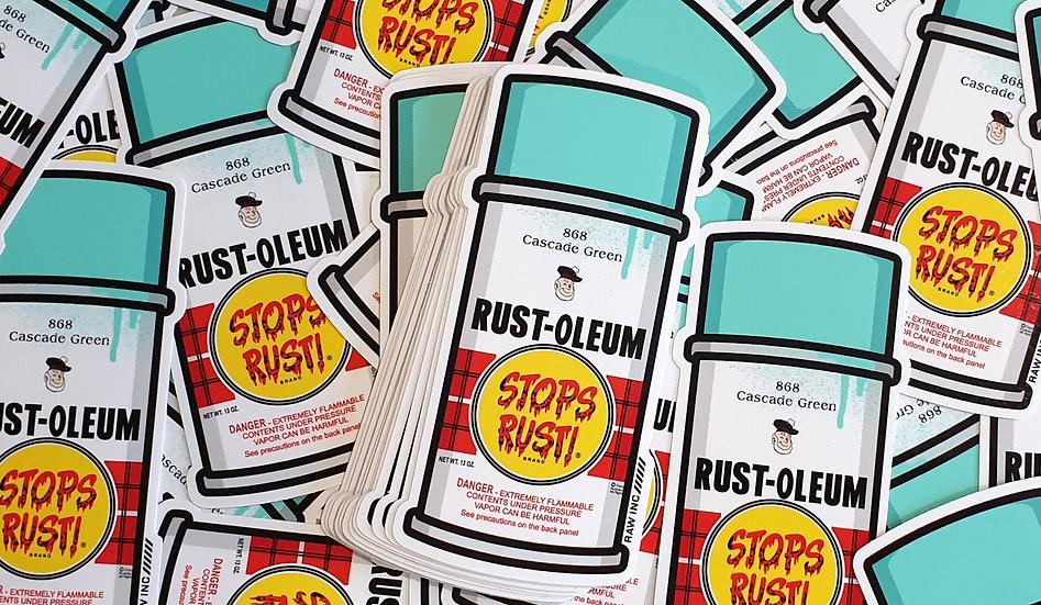 Raw Inc / Rust-oleum spray can stickers