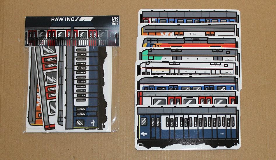 Raw / UK Train Sticker pack