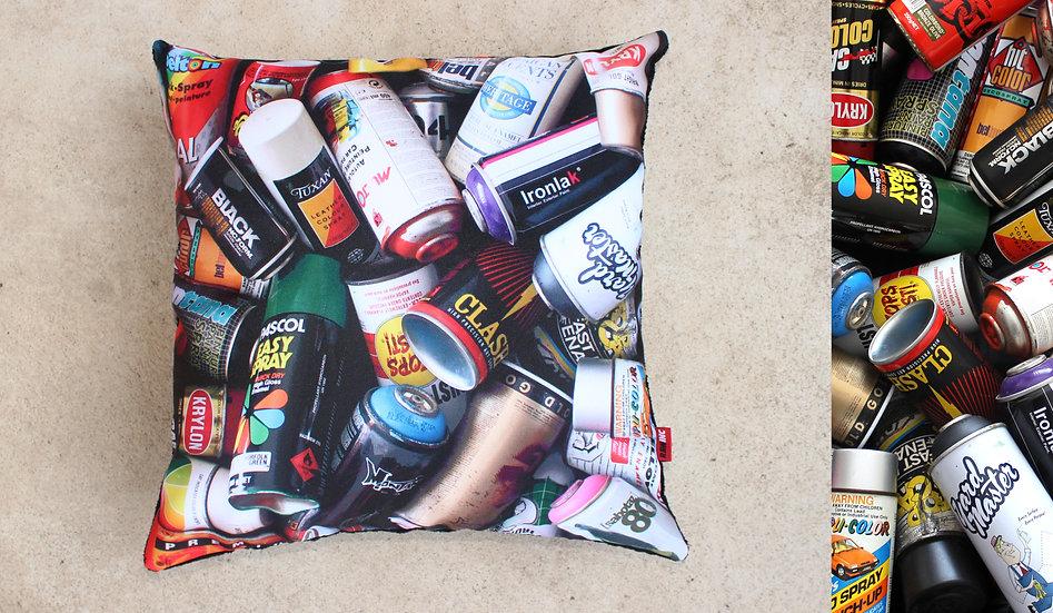 Raw Inc / Mixed Cans 45x45cm cushion