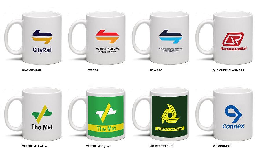 Raw / Railway mugs