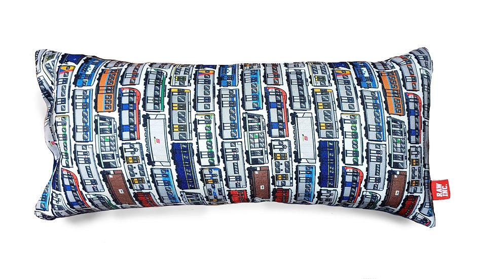 Raw / Aussie locos train Large Skinny Cushion