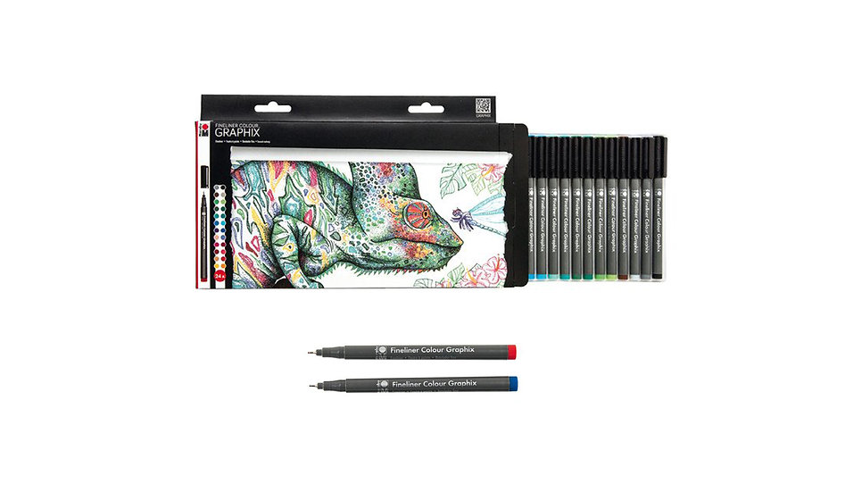 Marabu / Graphix fine liner set of 24 colours