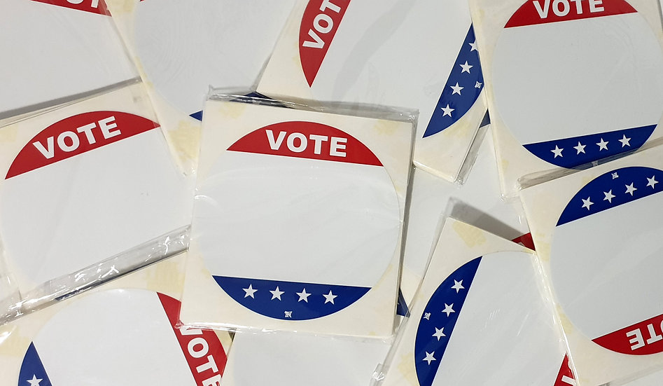 Raw / Eggshell circle Vote stickers pack