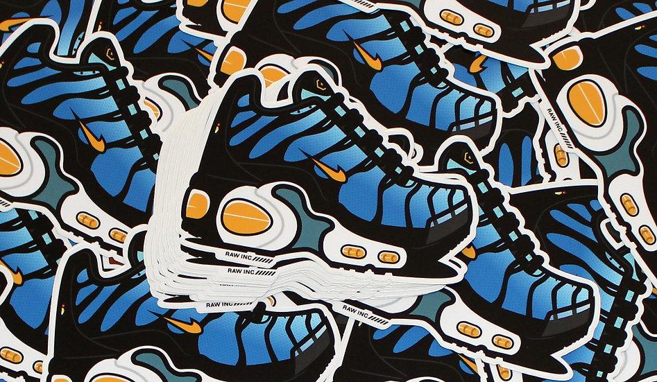 Raw / TN Hyper Blue 13cm stickers