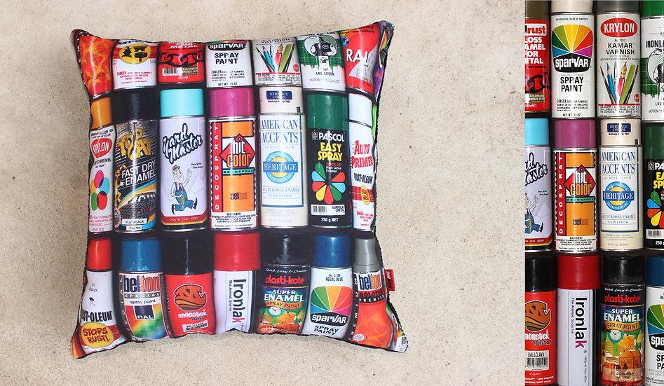 Raw Inc / Spray Can Stack 45x45cm cushion