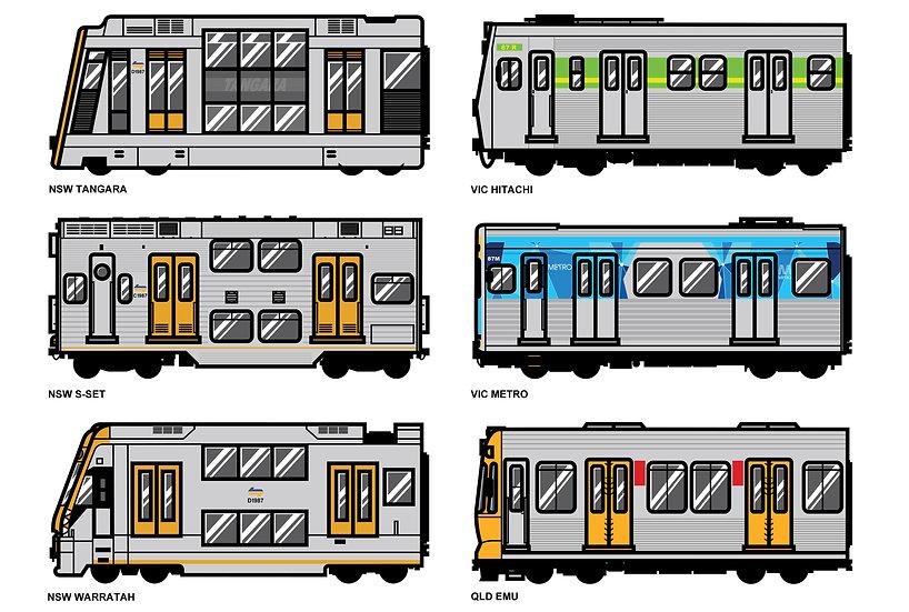 Raw / Train 15cm stickers