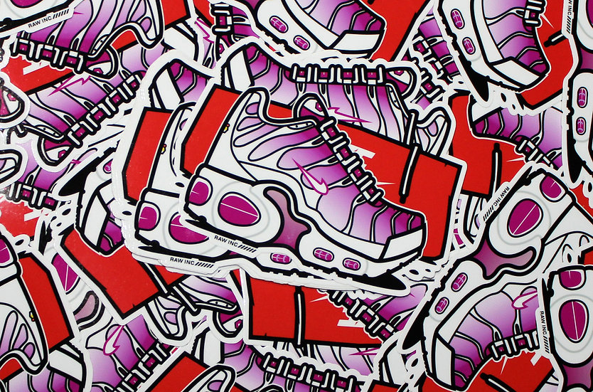 Raw Inc / TN Pink Fade V2  stickers