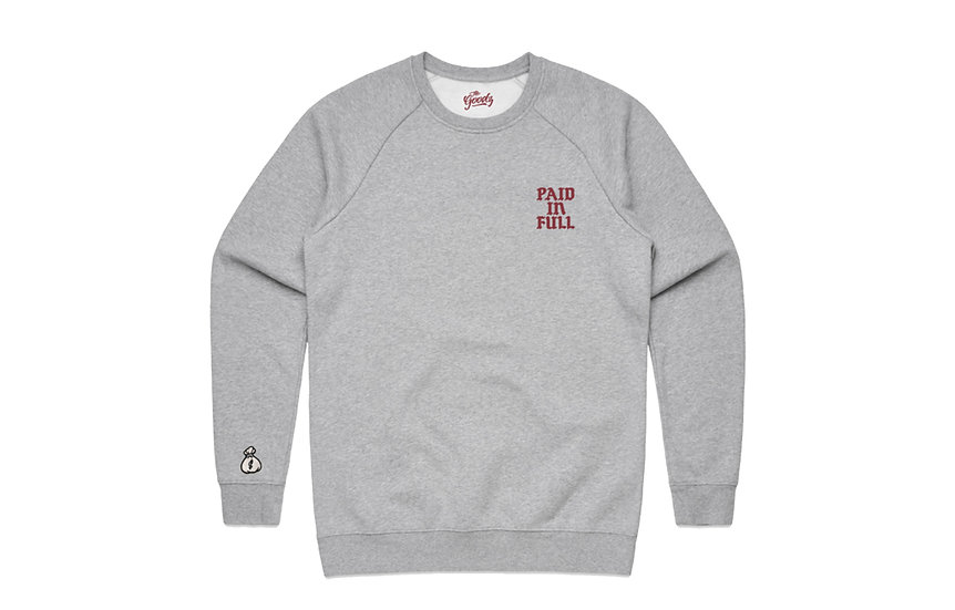 The Goodz / Paid in Full grey crew sweatshirt