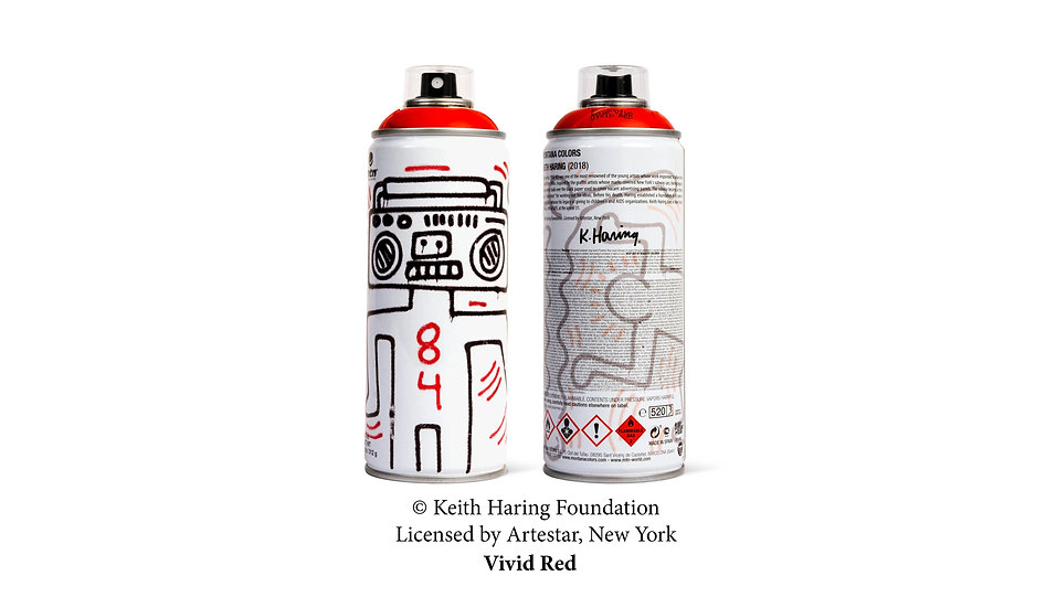 MTN x Keith Haring red LE can