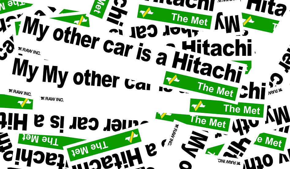 Raw / My other car is a Hitachi 25cm sticker
