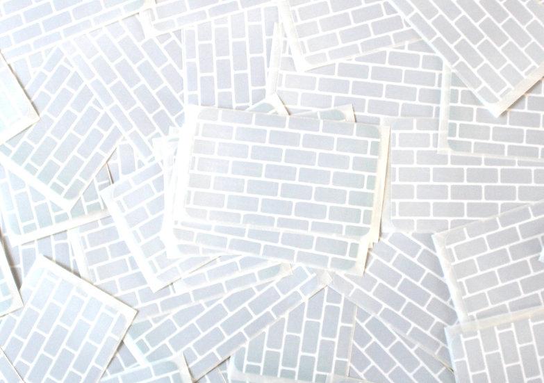 Super Tack / Brick Eggshell sticker x50 pack