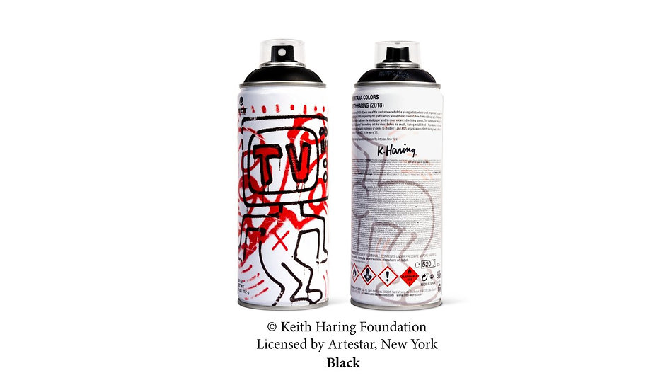 MTN x Keith Haring black LE can