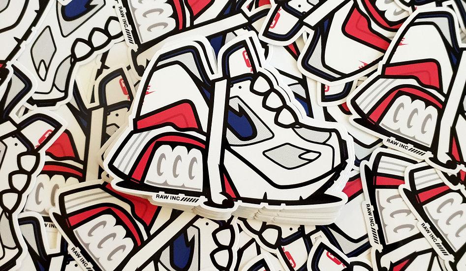 Raw / 180 Ultramarine 13cm stickers