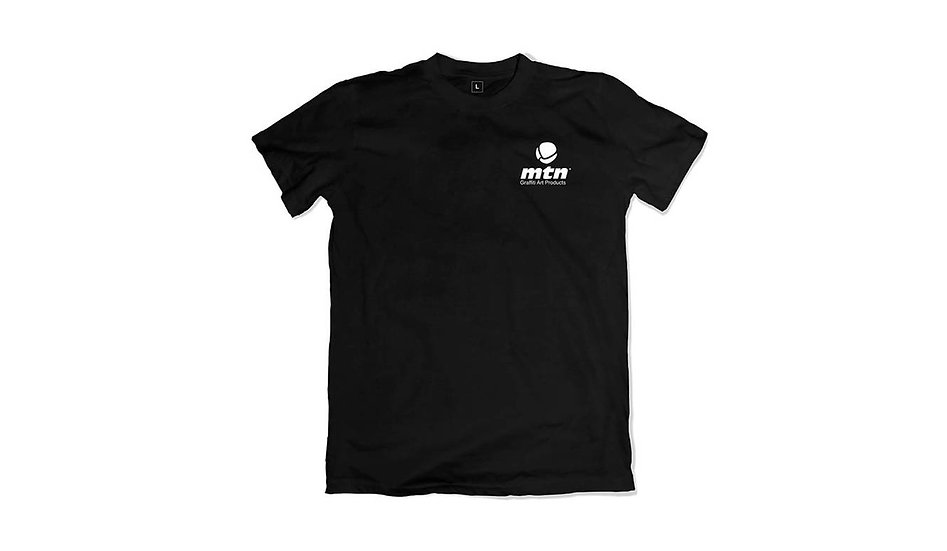 MTN / Pocket logo, black t-shirt