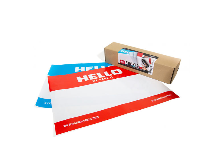 Montana / A2 'Hello My Name Is' Stickers pack