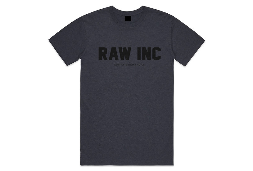 Raw / Supply & Demand, navy marl t-shirt