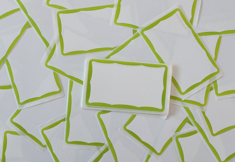 Super Tack / Wavey Lime Eggshell sticker x50 pack