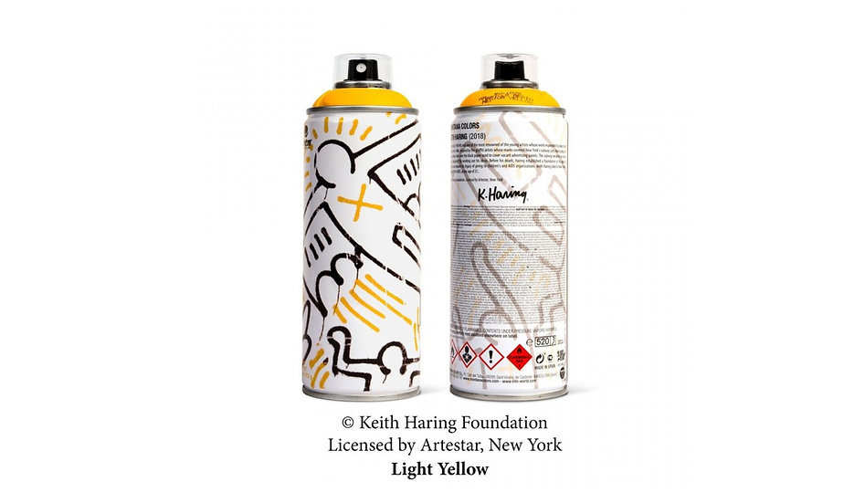 MTN x Keith Haring yellow LE can