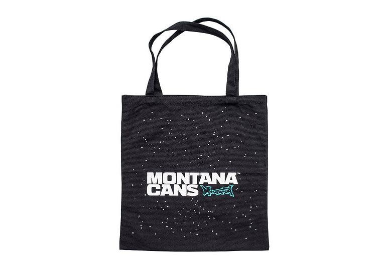 Montana / Logo + Stars Cotton Black Bag