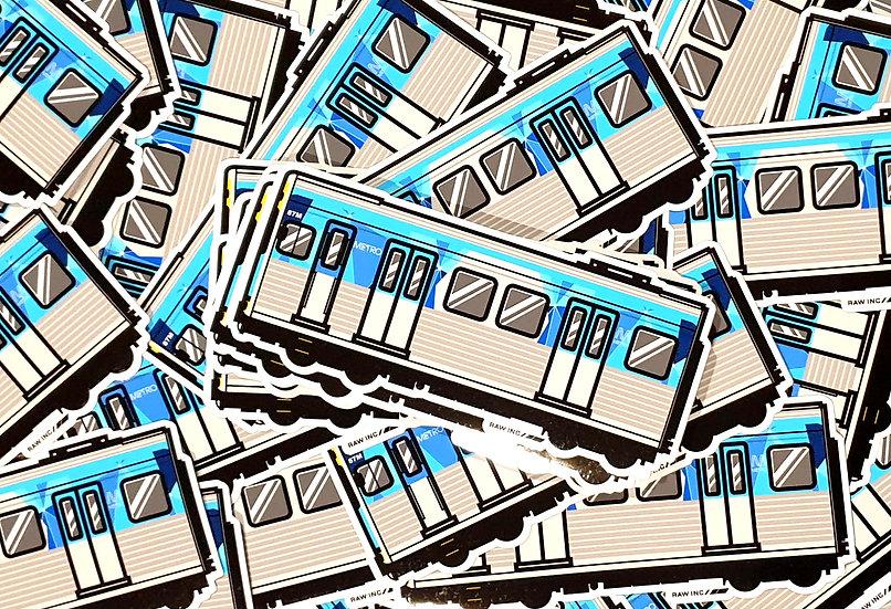 Raw Inc / VIC Comeng Metro Train stickers