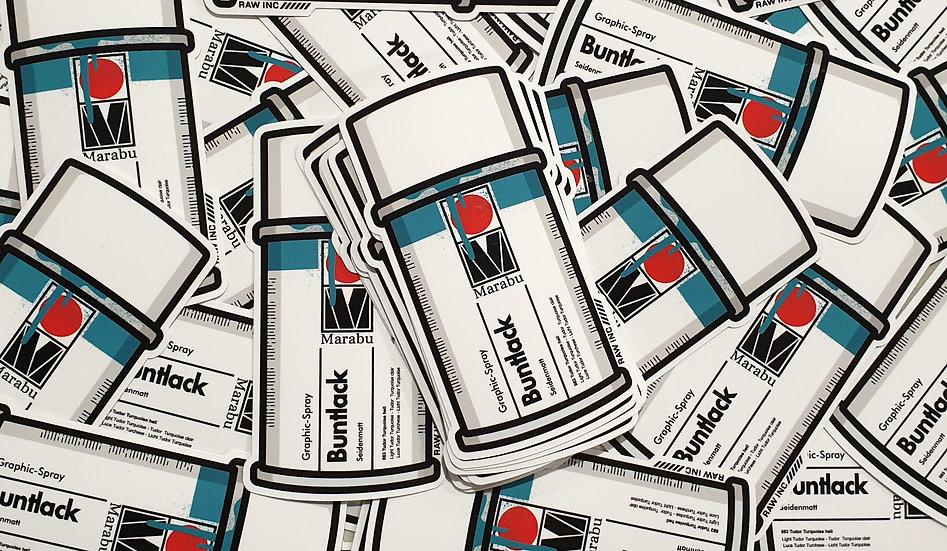 Raw / Classic Buntlack 11.5cm sticker
