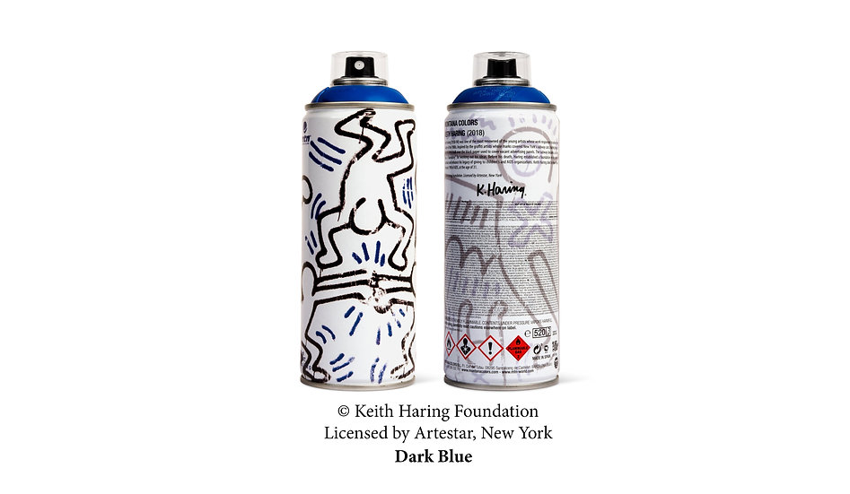 MTN x Keith Haring blue LE can