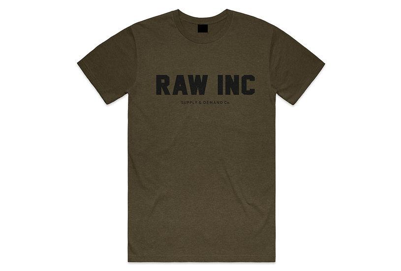 Raw / Supply & Demand, army marl t-shirt