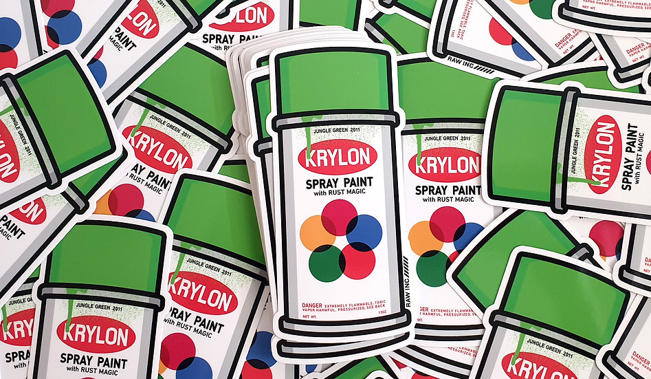 Raw / Classic Krylon 13cm sticker