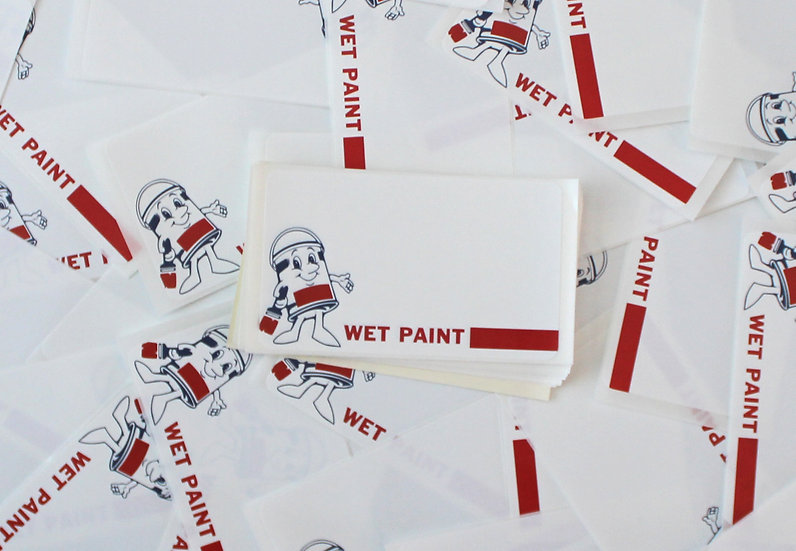 Super Tack / Wet Paint Eggshell sticker x50 pack