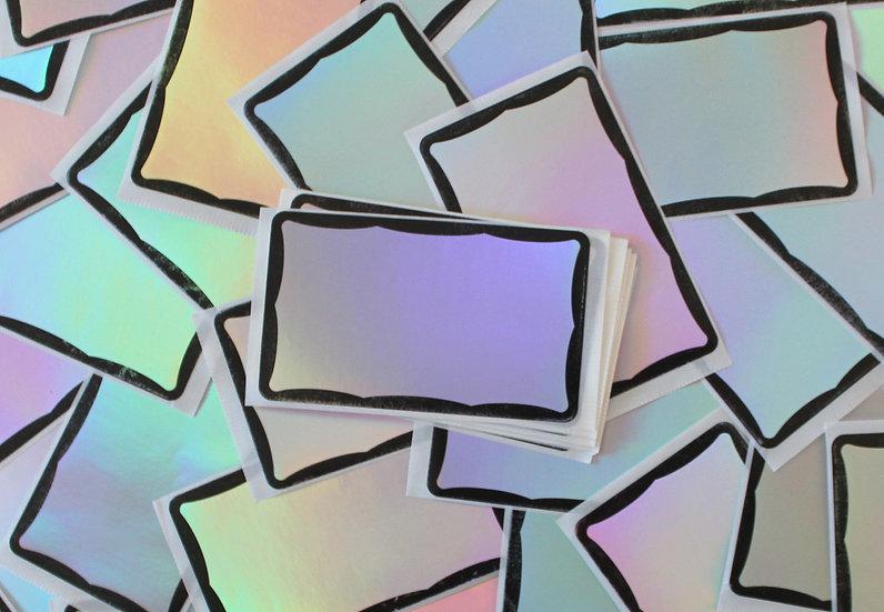 Super Tack / Hologram Wavy Eggshell sticker x50 pack