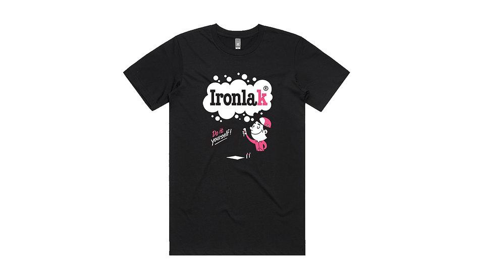 Ironlak / Do it yourself, black t-shirt