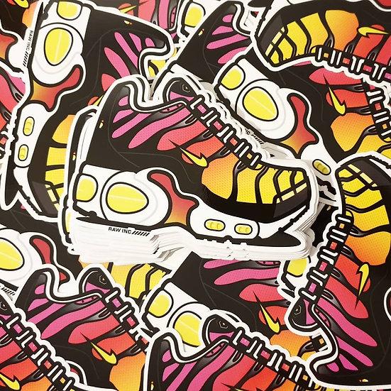 Raw / TN Rainbow 13cm stickers