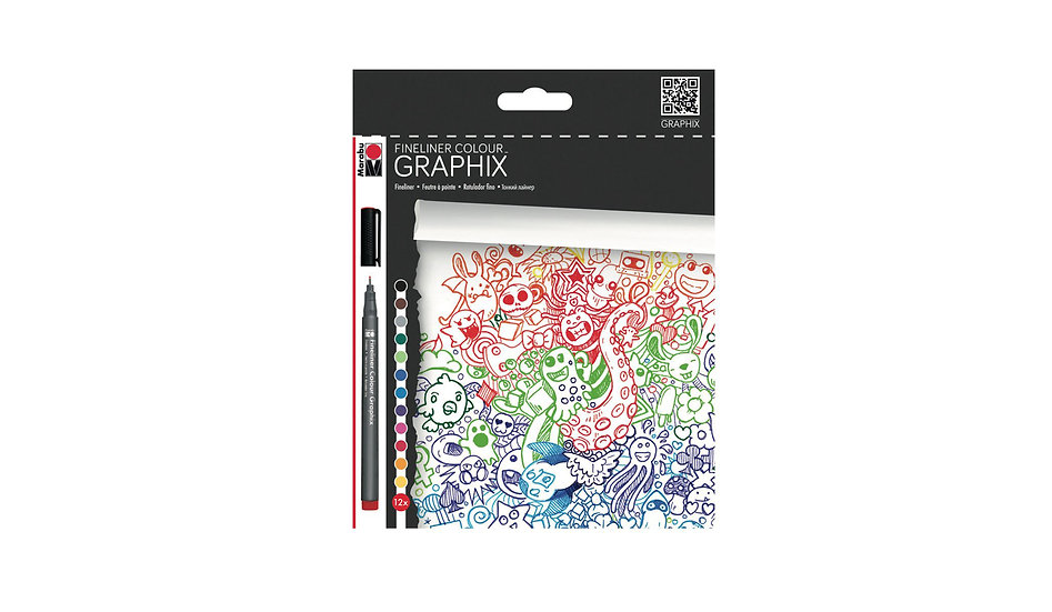 Marabu / Fine liner graphix pens set of 12