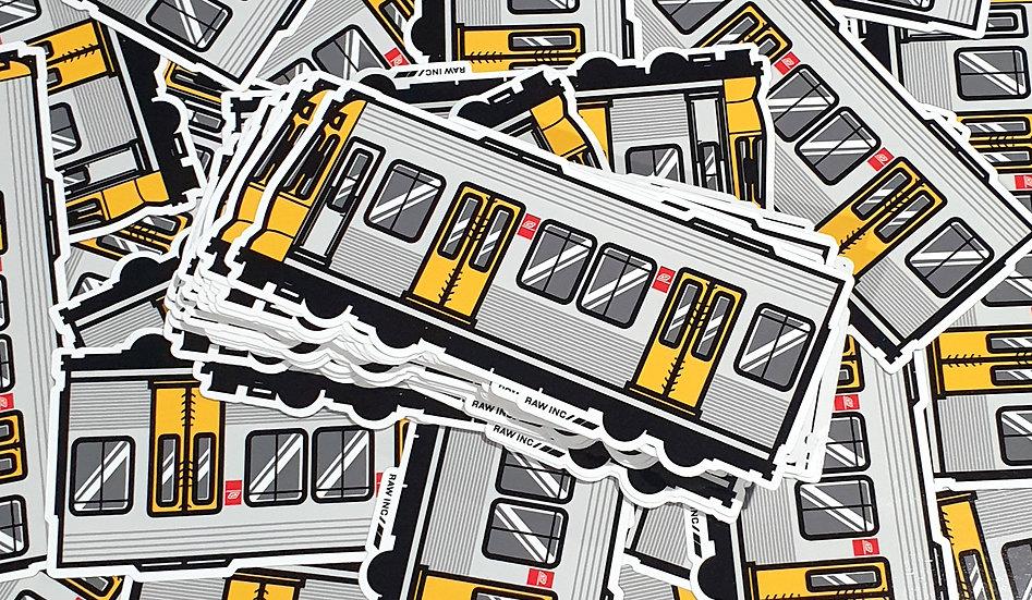 Raw Inc / QLD Emu Train stickers