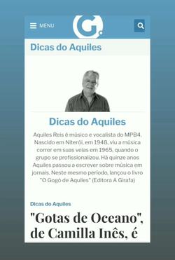 Camilla Ines Jornal a Gazeta - Dicas do Aquiles