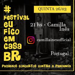 Camilla Ines Festival Eu FicoEm Casa 2020